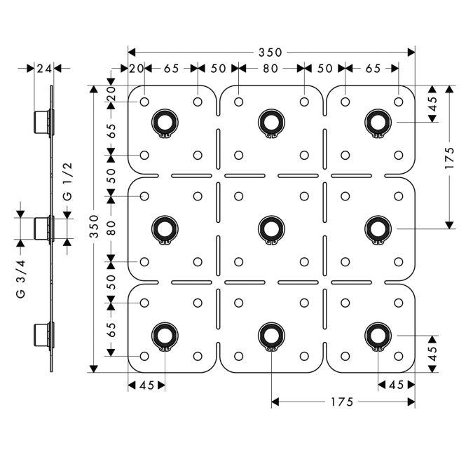 HansGrohe AXOR Starck ShowerCollection Szerelési segédlet DN15 / 28470180 / 28470 180