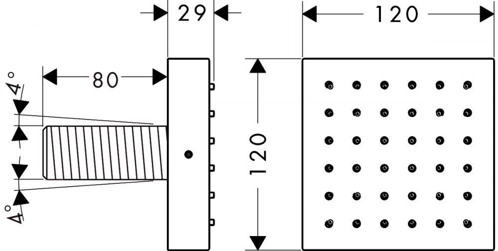 HansGrohe AXOR Starck ShowerCollection Zuhanymodul színkészlet DN15 / króm / 28491000 / 28491 000