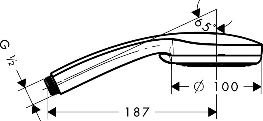 HansGrohe Croma 100 Multi EcoSmart kézizuhany DN15 / króm / 28538000 / 28538 000