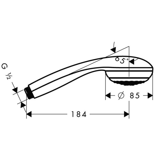 HansGrohe Crometta 85 1jet EcoSmart kézizuhany / króm / 28606000 / 28606 000