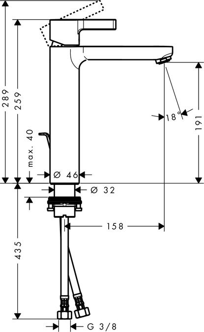HansGrohe Egykaros mosdócsaptelep automata lefolyó-garnitúrával / 31021000 / 31021 000