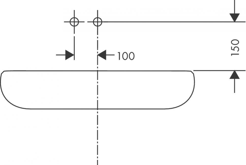 HansGrohe Metris Egykaros, falsík alatti mosdócsaptelep DN15 / 165 mm-es kifolyóval / 31085000 / 31085 000
