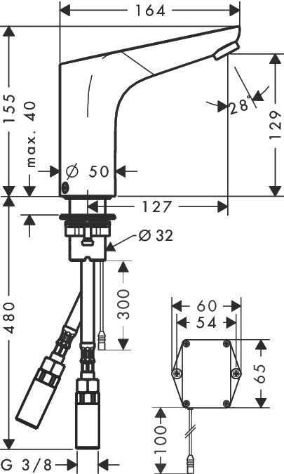 HansGrohe Focus elektromos csaptelep elemes / hőmérséklet szabályozóval / króm / 31171000 / 31171 000