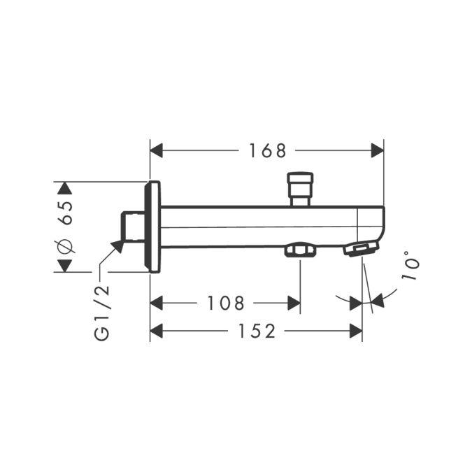 HansGrohe Metris Kádtöltő 152 mm váltószeleppel / króm / 31417000 / 31417 000