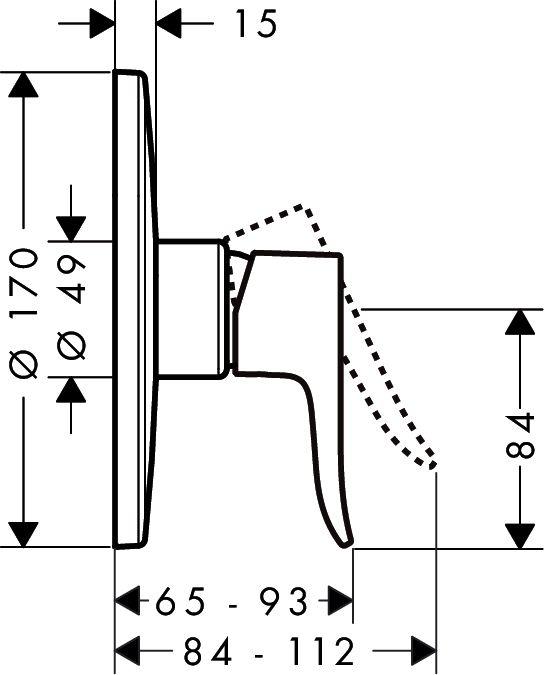 HansGrohe Metris Highflow falsík alatti zuhanyszínkészlet / 31652000 / 31652 000