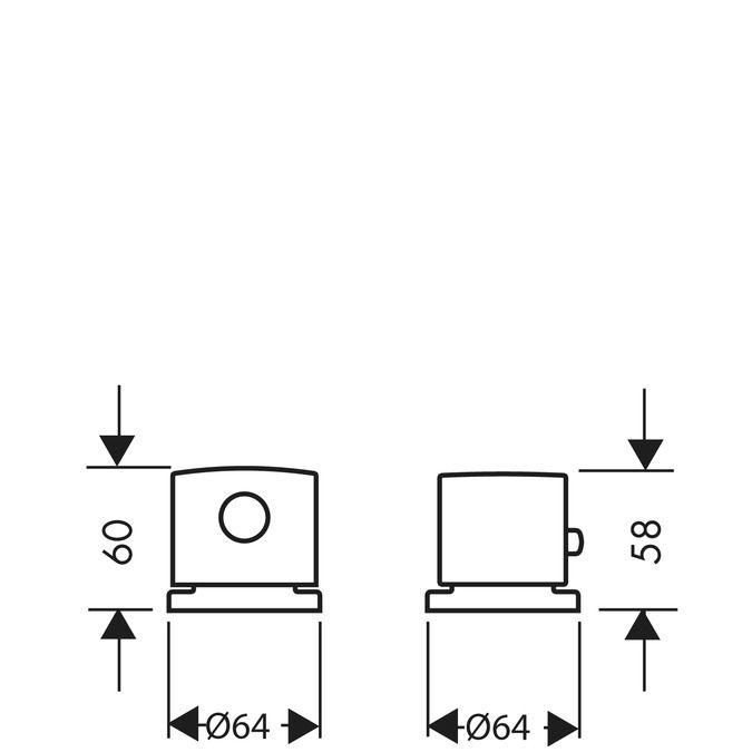 HansGrohe Uno 2-lyukú, peremre szerelhető termosztátos kádcsaptelep DN15, króm  / 38480000 / 38480 000