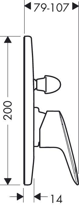 Hansgrohe Logis Egykaros, falsík alatti kádcsaptelep színkészlet / 71406 000 / 71406000