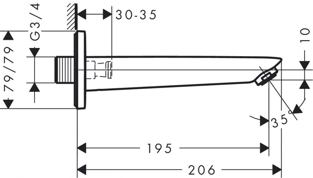 HansGrohe Logis Kádtöltő / falsík alatti szereléshez / 71410 000 / 71410000