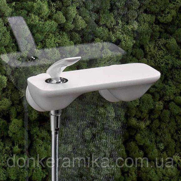 KLUDI BALANCE falra szerelhető egykaros zuhanycsaptelep, fehér/króm 527109175 / 5271091-75 / 52710-91-75