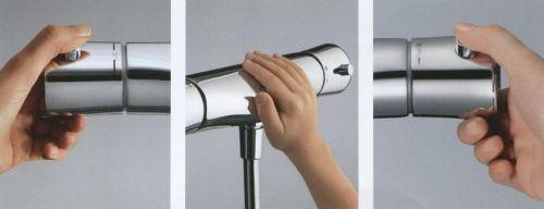 KLUDI AMBA termosztátos zuhanycsap, falra szerelhető kivitel, hőfokszabályzó kar 38°C-ra beállított reteszgombbal 534000538 / 5340005-38 / 53400-05-38