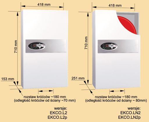 RADECO / KOSPEL EKCO.L2 z 12 kW elektromos / villany kazán, központi fűtéshez, 400V energiatakarékos