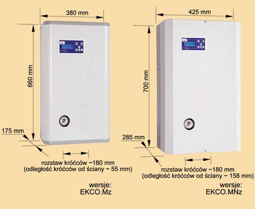 RADECO / KOSPEL EKCO.MN z 24 kW elektromos / villany kazán, központi fűtéshez, 400V időjáráskövető szabályozás, egy / két különálló fűtőkör vezérlése HMV tároló fűtésére is, energiatakarékos