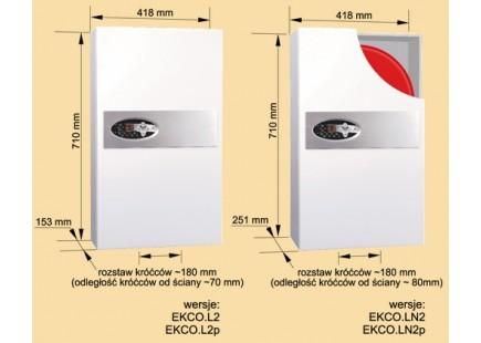 RADECO / KOSPEL EKCO.LN2 z 8 kW elektromos / villany kazán, központi fűtéshez, 400V/230V energiatakarékos