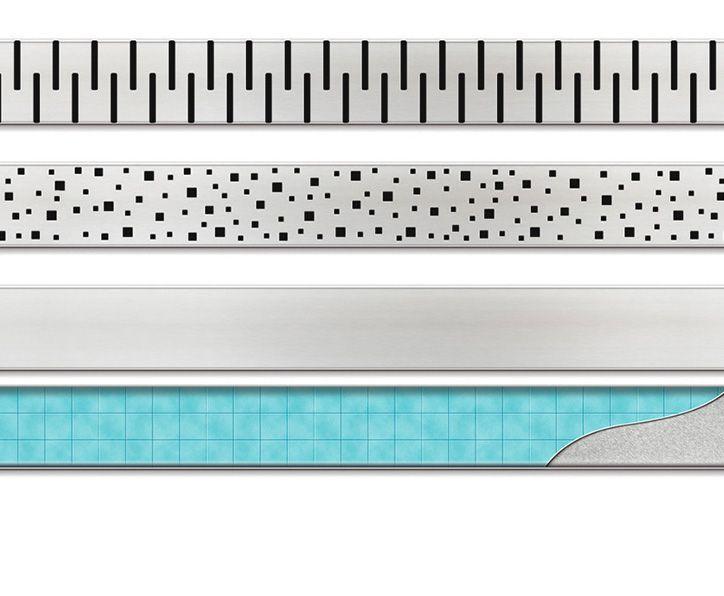 MOFÉM / TEKA Linear MLP-650 KF padlósíkra építhető lefolyó / zuhanylefolyó szett, minta nélküli ráccsal, 501-0002-00 / 501000200