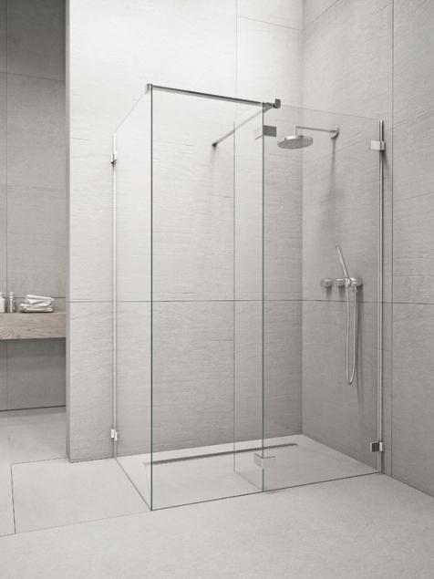 RADAWAY Euphoria W2 80 zuhanykabin FAL / ZUHANYFAL 775-785x2000 mm / 01 átlátszó üveg / 383120-01-01