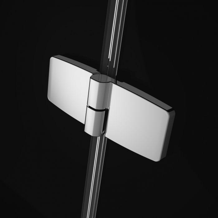 RADAWAY Fuenta New DWJ 130 J jobb / jobbos szögletes zuhanykabin 1290-1310x2000 mm / 01 átlátszó üveg / 384017-01-01R + Króm küszöb