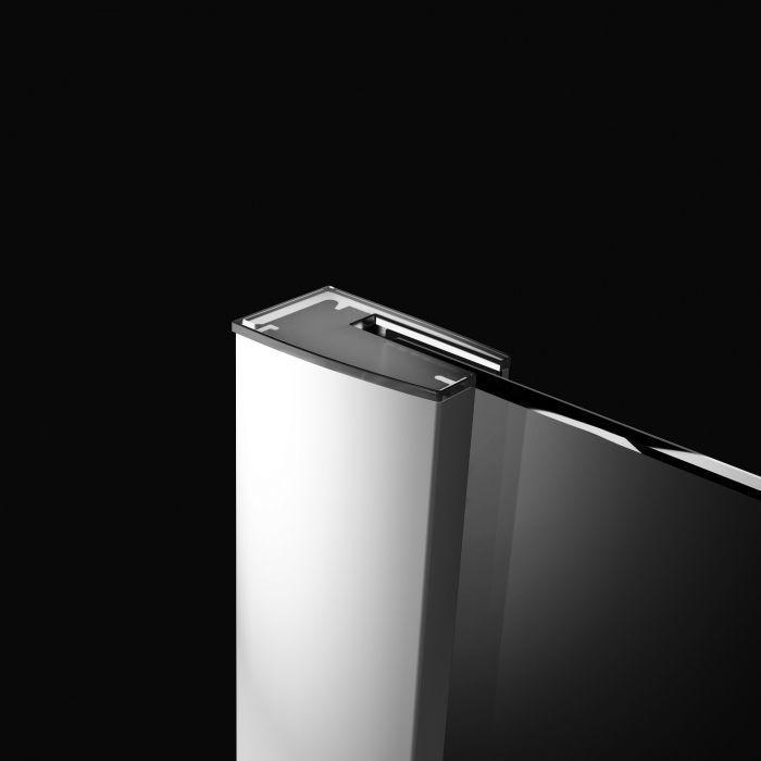 RADAWAY Fuenta New DWJS 120 B bal / balos szögletes zuhanykabin 1185-1215x2000 mm / 01 átlátszó üveg / 384031-01-01L + Króm küszöb