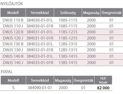 RADAWAY Fuenta New DWJS 140 J jobb / jobbos szögletes zuhanykabin 1385-1415x2000 mm / 01 átlátszó üveg / 384033-01-01R + Króm küszöb