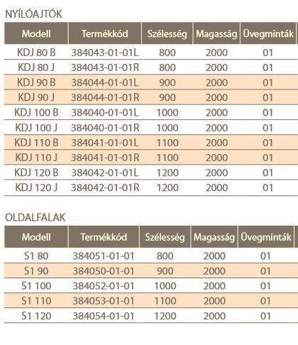 RADAWAY Fuenta New KDJ 90 B bal / balos szögletes zuhanykabin AJTÓ 900x2000 mm / 01 átlátszó üveg / 384044-01-01L + Króm küszöb