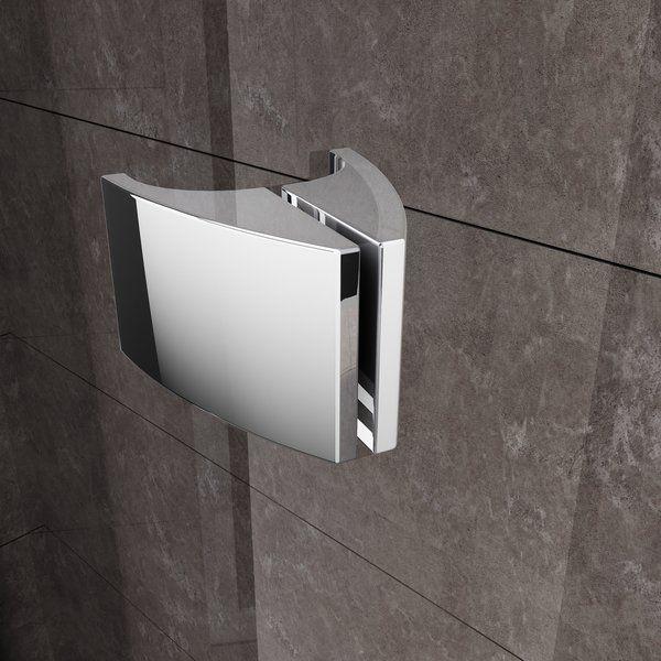 RAVAK Pivot PDOP2-110 kétrészes kifelé nyíló zuhanyajtó szatén kerettel / TRANSPARENT edzett biztonsági üveggel 110 cm / 03GD0U00Z1