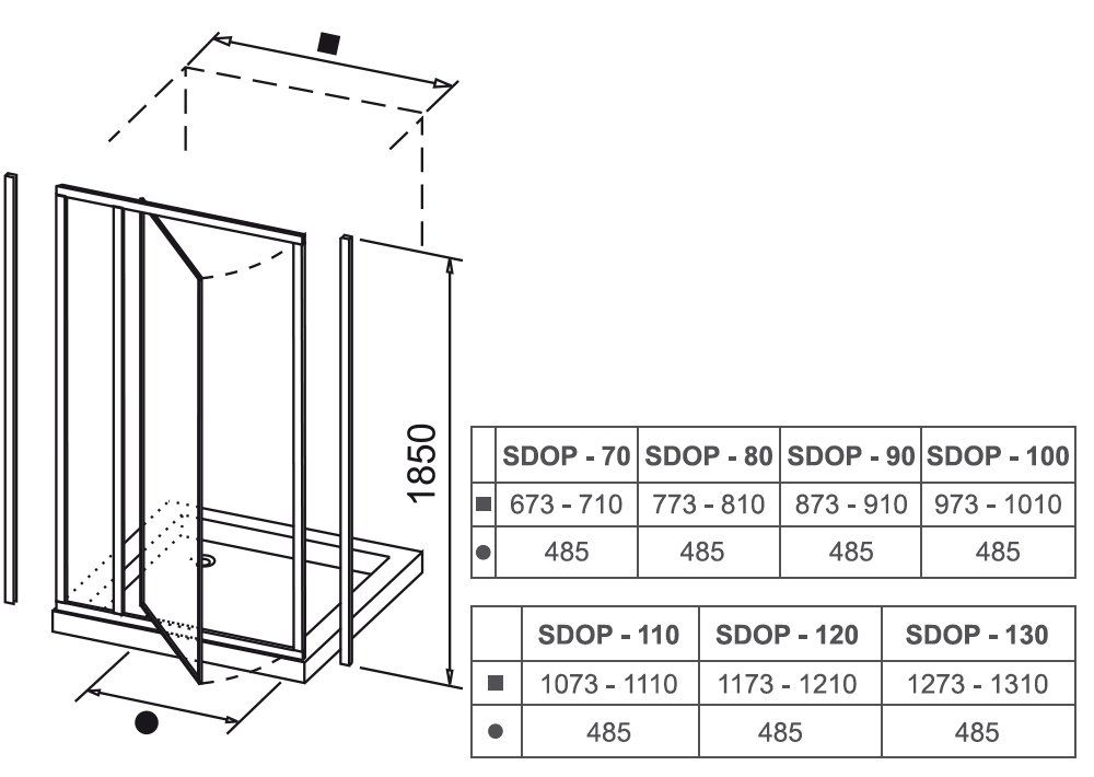 RAVAK SUPERNOVA SDOP-80 kifelé nyíló zuhanyajtó fehér kerettel / TRANSPARENT edzett biztonsági üveggel, 80 cm-es / 03V40100Z1