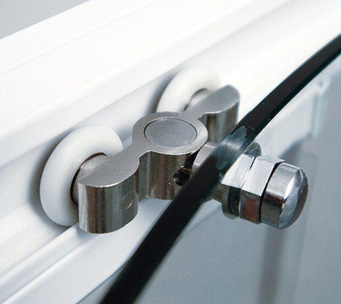 RAVAK Rapier NRDP2-100 Toló rendszerű kétrészes, jobbos zuhanyajtó fehér kerettel / TRANSPARENT edzett biztonsági üveggel / 100 cm / 0NNA010PZ1
