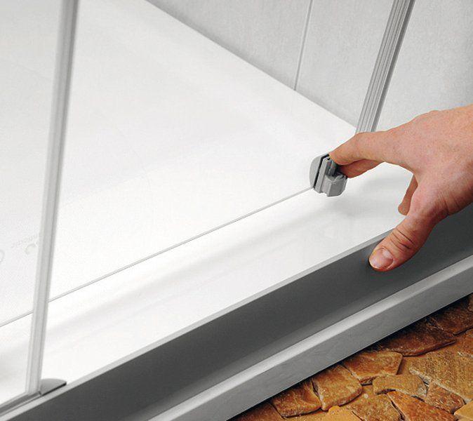 RAVAK Rapier NRDP2-100 Toló rendszerű kétrészes, jobbos zuhanyajtó fehér kerettel / GRAPE edzett biztonsági üveggel / 100 cm / 0NNA010PZG