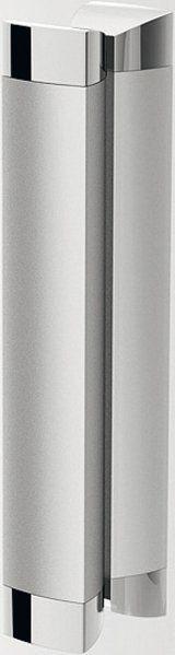 RAVAK Rapier NRDP2-120 Toló rendszerű kétrészes, balos zuhanyajtó szatén kerettel / TRANSPARENT edzett biztonsági üveggel  120 cm / 0NNG0U0LZ1