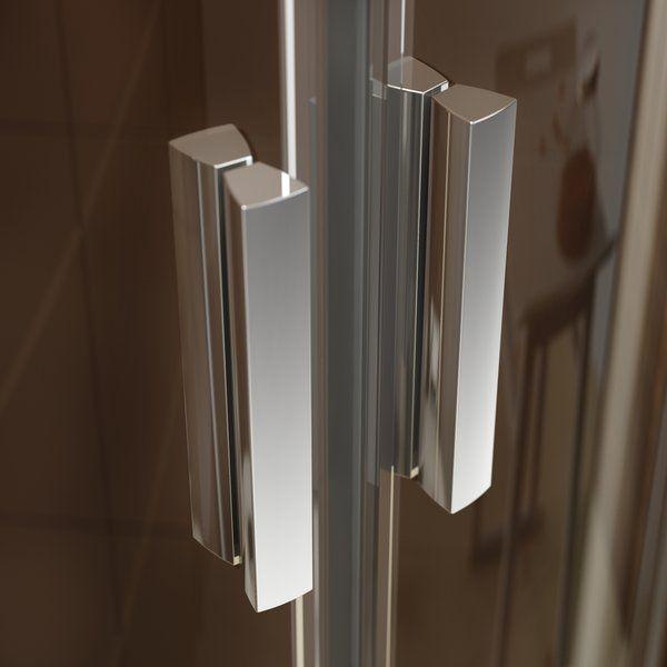RAVAK Blix zuhanyajtó BLDP2-110 kétrészes, toló rendszerű, fényes alumínium kerettel / GRAPE edzett biztonsági üveggel, 110 cm / 0PVD0C00ZG