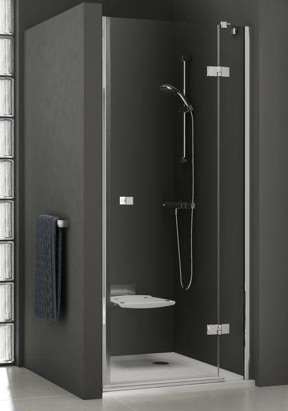 RAVAK SmartLine SMSD2-110 B Kételemes jobbos zuhanyajtó króm zsanérral / TRANSPARENT edzett biztonsági üveggel 110 cm / 0SPDBA00Z1
