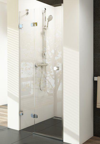 RAVAK Brilliant BSD2-100 A-balos kételemes zuhanyajtó + B SET / króm kerettel / TRANSPARENT edzett biztonsági üveggel / 0ULAAA00Z1 + D01000A086