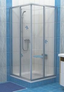 RAVAK SUPERNOVA SRV2-80 S zuhanyajtó, fehér kerettel / PEARL műanyag / plexi betéttel, kételemes tolórendszerű, sarok zuhanykabin kialakításához, 80 cm-es / 14V4010211