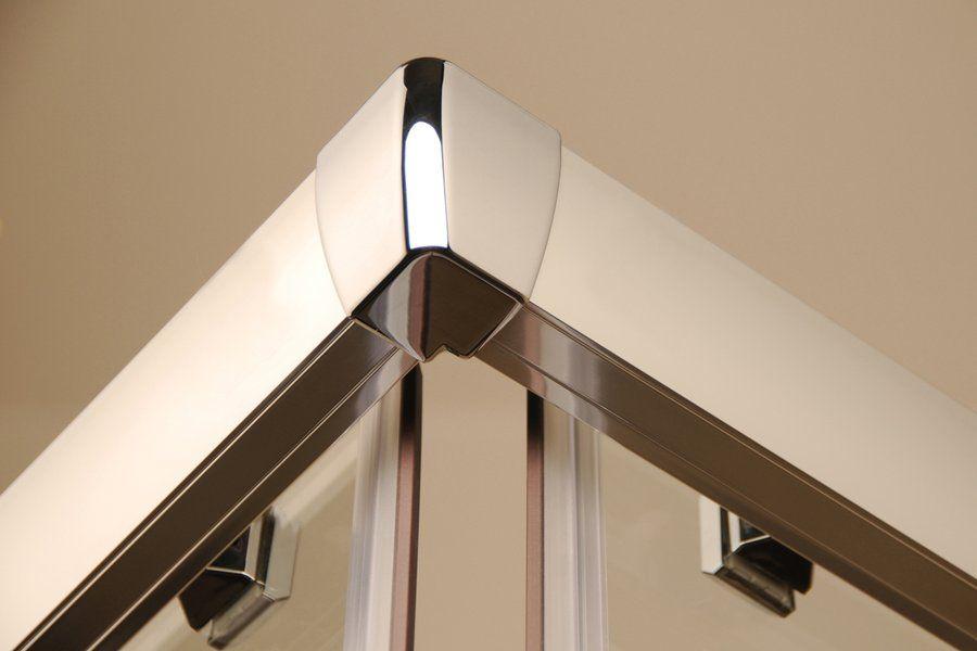 RAVAK Blix BLRV2K-120 Négyrészes toló rendszerű sarokbelépős zuhanykabin fényes alumínium kerettel / GRAPE edzett biztonsági üveggel  120 cm / 1XVG0C00ZG
