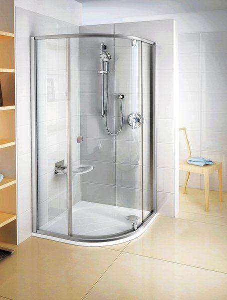 RAVAK Pivot PSKK3-80 háromrészes negyedköríves kifelé nyíló zuhanysarok szatén kerettel / TRANSPARENT edzett biztonsági üveggel 80 cm / 37644U00Z1