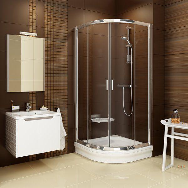 RAVAK Blix BLCP4-80 négyrészes negyedköríves tolóajtós zuhanykabin  fehér kerettel / GRAPE edzett biztonsági üveggel  80 cm / 3B240100ZG