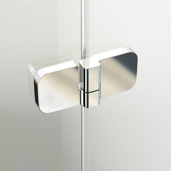 RAVAK BRILLIANT BSKK3-80 jobbos háromrészes, negyedköríves / íves zuhanykabin króm kerettel / TRANSPARENT edzett biztonsági üveggel, 80 cm, cikkszám: 3UP44A00Y1