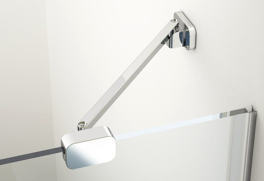 RAVAK BRILLIANT BSKK3-100 jobbos háromrészes, negyedköríves / íves zuhanykabin króm kerettel / TRANSPARENT edzett biztonsági üveggel, 100 cm, cikkszám: 3UPAAA00Y1