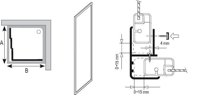RAVAK SUPERNOVA APSS-80 Fix oldalfal fehér kerettel / TRANSPARENT edzett biztonsági üveggel, 80 cm-es / 94040102Z1