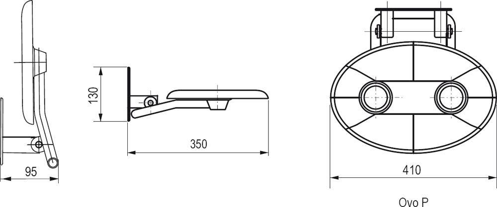 RAVAK OVO-P OPAL Zuhanykabin ülőke / áttetsző fehér / B8F0000001