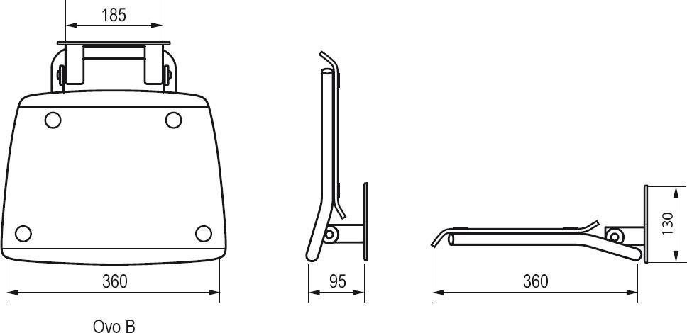 RAVAK OVO-B OPAL Zuhanykabin ülőke / áttetsző fehér / B8F0000016