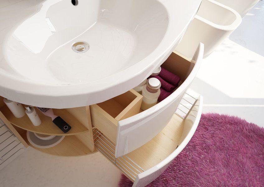 RAVAK SDU Rosa Comfort szekrény mosdó alá jobbos (nyír/fehér) / Cikkszám: X000000163
