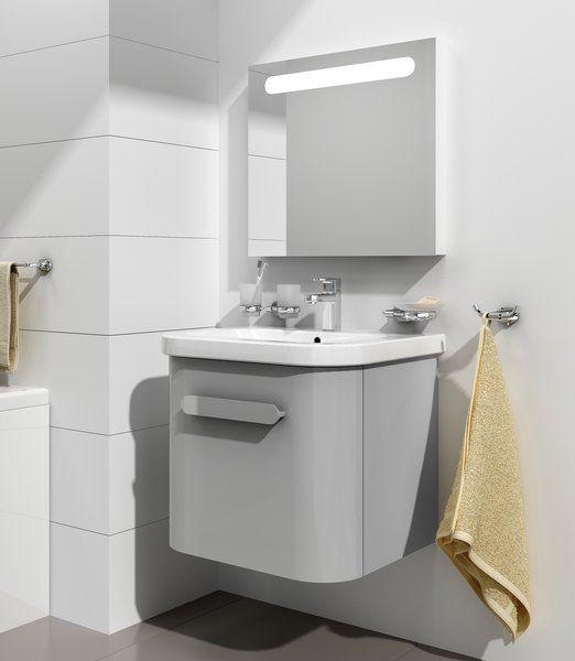 RAVAK SD Chrome 550 mosdó alatti szekrény / fürdőszobaszekrény Chrome mosdókhoz 515 x 450 x 450 mm, szürke, cikkszám: X000000636