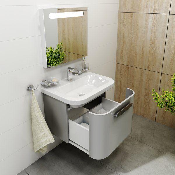 RAVAK SD Chrome 650 mosdó alatti szekrény / fürdőszobaszekrény Chrome mosdókhoz 615 x 450 x 450 mm, fehér, cikkszám: X000000637