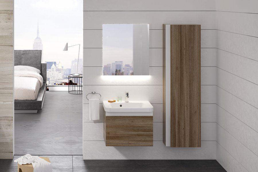 RAVAK SD 10° 550 mm-es mosdó alatti szekrény / normal kivitel / balos / fényes fehér / 10 fok / cikkszám: X000000733