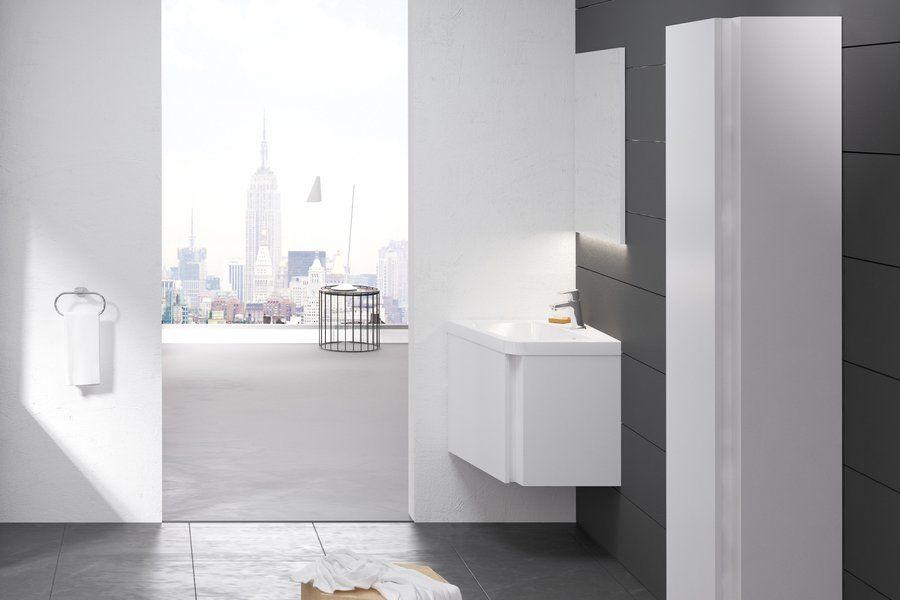 RAVAK SD 10° 550 mm-es mosdó alatti szekrény / sarok kivitel / balos / fényes fehér / 10 fok / cikkszám: X000000739