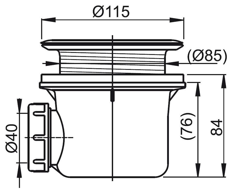 RAVAK Basic 90 zuhanytálca szifon / X01308