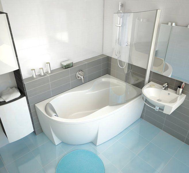 RAVAK ROSA Falba süllyesztett / beépíthető kád csaptelep / kádtöltő zuhanyváltóval R-Boxhoz RS 065.00, cikkszám: X070050, falsík alatti csaptelep látható rész