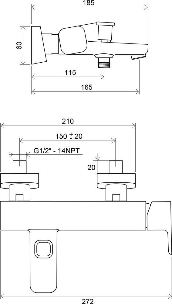 RAVAK TD 022.00/150 Kádcsaptelep lefolyó nélkül, 150 mm / X070065