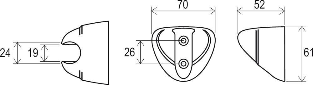 RAVAK Fix fali zuhanytartó 610.00, cikkszám: X07P010, króm