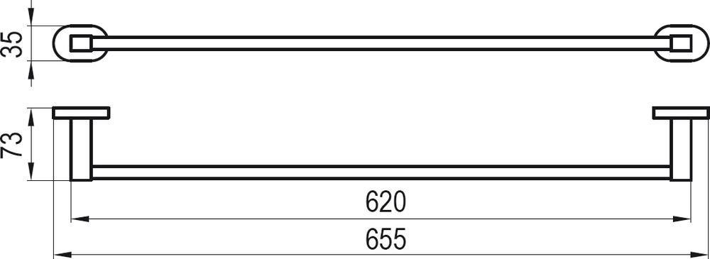 RAVAK Chrome Törölközőtartó 66 cm CR 310, cikkszám: X07P192